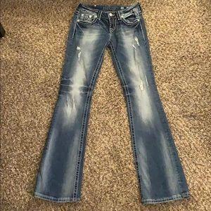 MISS ME Boot Cut Jeans Sz 26x33